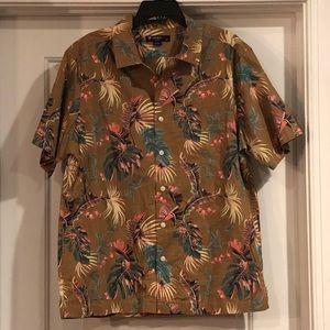 Cremieux Hawaiian shirt large